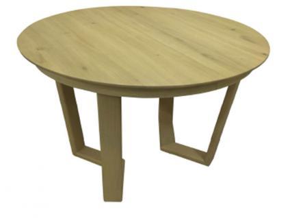 DKK Klose Esstisch T53 Massivholzarten wählbar 5310 Tisch für Esszimmer mit runder Platte und ausziehbar mit Synchronauszug, Gestell wählbar