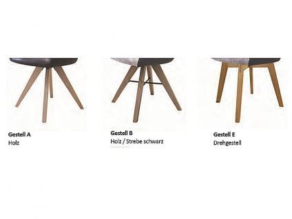 Standard Furniture Polstersessel Rimini mit Sitzschale F2 hinten offen für Esszimmer oder Wohnzimmer, Bezug zum Teil mit Kunstleder, auch unifarben erhältlich, verschiedene Gestellarten wählbar - Vorschau 4