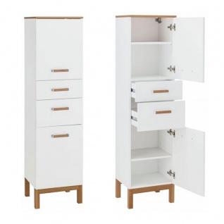 W.Schildmeyer Möbel Capri Badmöbel Set 4-tlg. für Badezimmer mit Spiegelschrank Highboard Hochschrank und Waschbeckenunterschrank - Vorschau 3