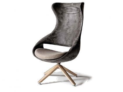 Voglauer Ohrensessel gepolstert OS15 mit Holzgestell und dreh- und schwenkbarer Sitzschale in Stoff Leder oder kombiniert wählbar Relaxsessel passend zu den Voglauer Programmen V-Alpin V-Solid V-Organo und V-Montana