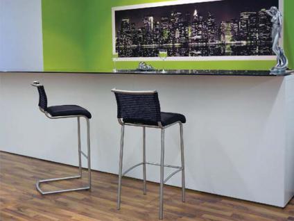 MWA Aktuell Barhockersystem Lima in Stoff Kunstleder oder Echtleder Barstuhl für Esszimmer Partyraum oder Küche Bezug und Gestell wählbar