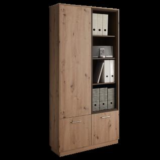 Mäusbacher Frame Regalschrank VR_2 für Ihr Wohnzimmer Esszimmer oder Büro mit drei Türen und vier offenen Fächer Ausführung wählbar