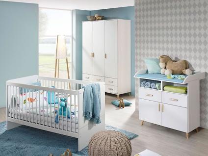 Rauch Packs Mieke Babyzimmer 3-teilig bestehend aus Sprossenbett, Kleiderschrank und Wickelkommode