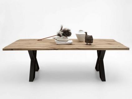 Bodahl Woodstock Massivholz Esstisch wild oak mit ca. 100 cm Tischbreite Speisezimmertisch für Esszimmer Holzausführung Gestell Ansteckplatte und Tischplattenausführung wählbar