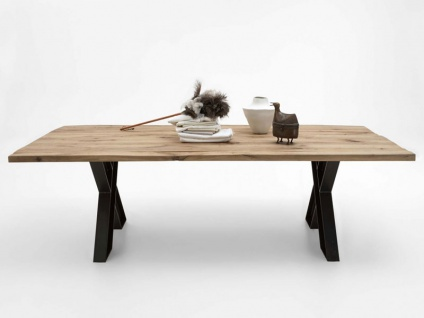 Bodahl Woodstock Timber Massivholz Esstisch wild oak mit ca. 100 cm Tischbreite Speisezimmertisch für Esszimmer Holzausführung Gestell und Länge wählbar