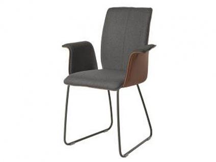 Bert Plantagie Stuhl Tara 831 mit Bi-Color-Polsterung Polsterstuhl für Esszimmer Esszimmerstuhl mit Schlittengestell Gestellausführung und Bezug in Leder oder Stoff wählbar