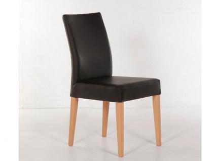 Standard furniture Stuhl Cora mit kantenumlaufenden Ziernähten Polsterstuhl für Esszimmer und Wohnzimmer Gestellausführung und Bezug wählbar - Vorschau 2