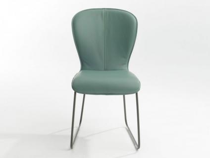 Bert Plantagie Blake Schlitten mit Uni-Polsterung Stuhl 611 für Esszimmer Esszimmerstuhl Gestellausführung und Bezug in Leder oder Stoff wählbar