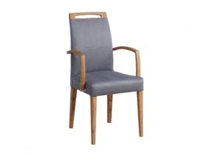 Dkk Klose Sessel S41 Marshmallow mit Griff B und Armlehnen Polsterstuhl 671 für Wohnzimmer oder Esszimmer in vier Polstervarianten Gestell aus Massivholz in verschiedenen Holzausführungen Bezug Leder oder Stoff in großer Auswahl erhältlich