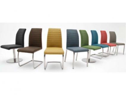 MCA Stuhlsystem Flores 2er Set Stuhl Ausführung A mit Bezug aus Kunstleder Argentina, Ausführung wählbar, für Esszimmer, Wohnzimmer oder Speisezimmer