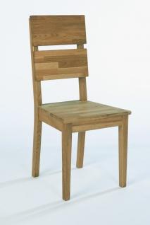 ELFO 2er Set Stuhl Dora-E in Wildeiche massiv geölt für Ihr Speisezimmer oder Esszimmer