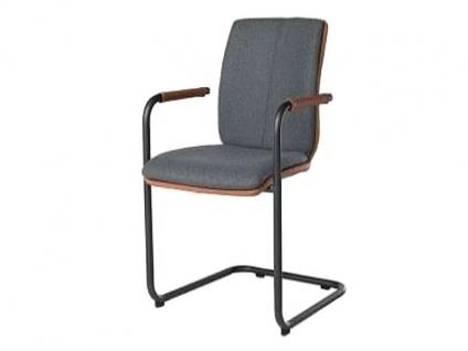 Bert Plantagie Stuhl Tara Freischwinger 824 oder 827 mit Bi-Color-Polsterung Polsterstuhl für Esszimmer Esszimmerstuhl Gestellform Gestellausführung und Bezug in Leder oder Stoff wählbar