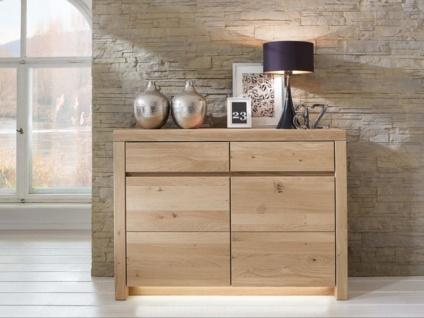 Wöstmann Sideboard 2350 Soleo 3000 Linos Kommode aus Massivholz soft gebürstet für Wohnzimmer Ausführung und Zubehör wählbar