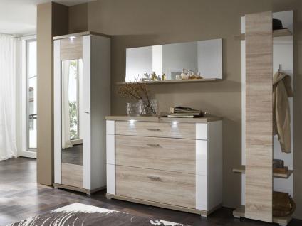 IDEAL-Möbel Garderobe Manhattan Kombination 01 inklusive Korpusfrontbeleuchtung in verschiedenen Ausführungen wählbar