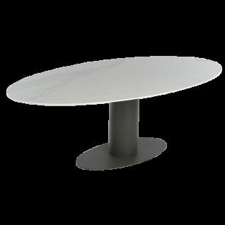 Oval Esstisch mit ovaler Dekton-Tischplatte von Bert Plantagie Tisch für Esszimmer Tischplatten sowie Gestellausführung und Größe wählbar