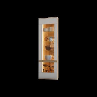 Stralsunder Binz Standelement Ausführung Korpus Alteiche und Fronten in Grau matt optional mit geschroppten Rückwänden und passender Beleuchtung für Ihr Wohnzimmer