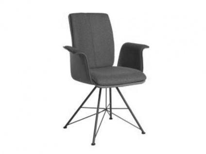 Bert Plantagie Stuhl Tara Spin 833C Komfort mit Uni-Mattenpolsterung und Armlehnen Polsterstuhl für Esszimmer Gestellausführung und Bezug in Leder oder Stoff wählbar