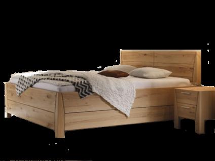 Thielemeyer Pura Komfort-Kastenbett in der Korpusausführung Naturbuche Massivholz Kopfteil mit Holzfüllung Liegefläche wählbar optional mit Hochkonsolen