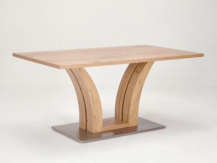Schösswender Säulentisch Modell P130 Esstisch mit furnierter eckiger Tischplatte für Esszimmer mit wählbarer Holzausführung und Größe Esstisch passend zum Programm Masala und Rialto