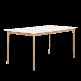 Standard Furniture Esstisch Bonny in 5 Größen mit Tischplatte weiss Tischbeine Buchenholz natur lackiert