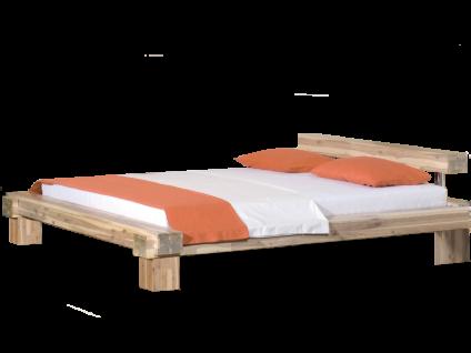 Neue Modular Punto La Paz Bett aus Massivholz in Akazie weiß lasiert Liegefläche ca. 180x200 cm