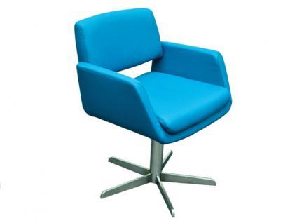 K+W Silaxx 6115 1B Drehsessel Sessel mit Kreuzfuß KW Möbel Sessel für Esszimmer Bezug wählbar Stuhlsystem H2O