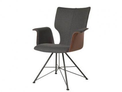 Bert Plantagie Stuhl Joni 733 Spin mit Bi-Color-Polsterung (zweifarbig) Polsterstuhl für Esszimmer Esszimmerstuhl mit Armlehnen Gestellausführung und Bezug in Leder oder Stoff wählbar