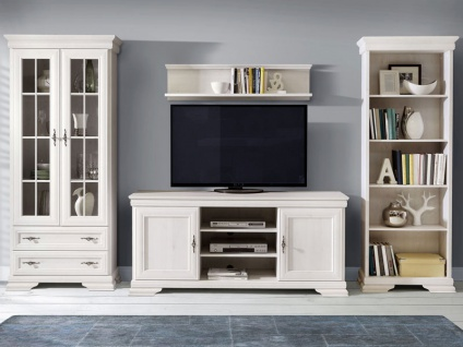 landhausstil wohnwand online bestellen bei yatego. Black Bedroom Furniture Sets. Home Design Ideas