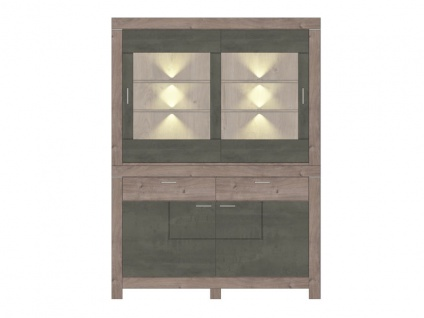 Wohn-Concept Granada Kombination 84 für Ihr Esszimmer oder Wohnzimmer bestehend aus einem Sideboard und Buffet-Aufsatz Speise-Kombination inkl. LED-Beleuchtung Ausführung wählbar - Vorschau 2
