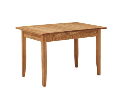 Schösswender Königsee Vierfußtisch in Wildeiche Massivholz geölt für Ihr Esszimmer Esstisch optional mit Auszugsfunktion