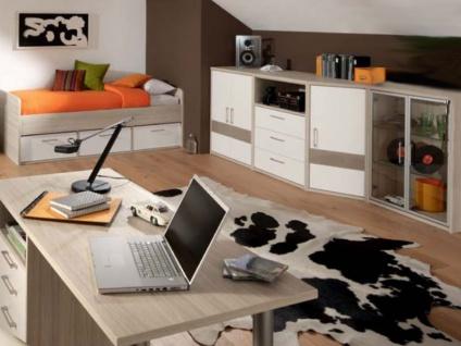 Priess Riva komplettes Jugendzimmer bestehend aus Kojenbett mit 3 Schubkästen 3-türiger Kleiderschrank Kommode mit 3 Schubkästen und 1 Nische