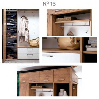 Wittenbreder Roubaix Garderobenkombination Nr. 15 komplette Garderobe für Ihren Flur und Eingangsbereich 9-teilige Vorschlagskombination im Dekor Wildeiche und Weiß matt - Vorschau 3