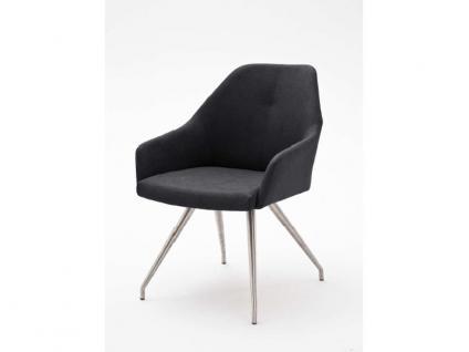 MCA furniture 2er Set Stuhl Madita Ausführung A - mit Kunstlederbezug Argentina, Farbe wählbar und Gestell 4-Fuß oval oder eckig, für Esszimmer und Wohnzimmer - Vorschau 4