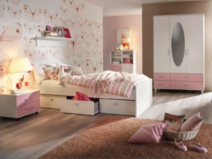 Rauch Packs Aik-Extra 3-teiliges Jugendzimmer mit Drehtürenschrank Umbauliege Nachtschrank und optional mit Regalelement und Wandbord Farbe wählbar