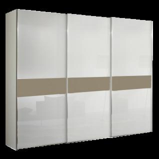 Staud Sinfonie Plus Schwebetürenschrank Ausführung 103G Korpus in Dekor Front in Glas und Mittelband in Glas wählbar