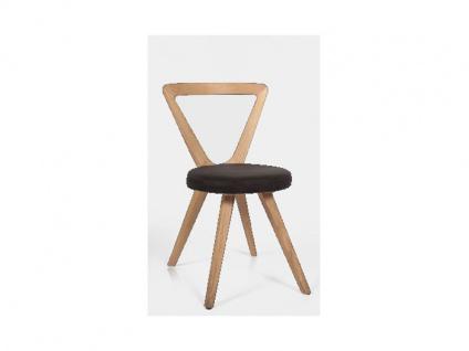 Voglauer V Montana Stuhl SEHP79 V-Montana moderner Polsterstuhl für Esszimmer Gestell und Lehne in Wildeiche Massivholz geölt Sitz Bezug in Loden Vintage oder Leder wählbar