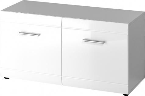 Germania Schuhbank ADANA, große Schuhfächer, viel Stauraum, hochglänzende Fronten Schrank ideal für Ihren Flur oder als Ergänzung zu Ihrer Garderobe