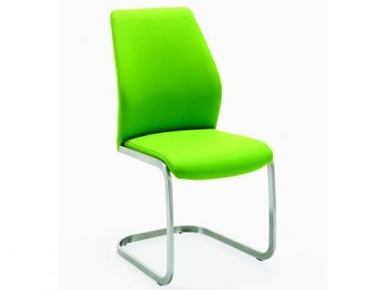 Niehoff Schwingstuhl 3821 Gestell Hochkantrohr Edelstahl gebürstet Stuhl Ausführung Kunstleder wählbar