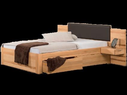 Neue Modular Bett Parma mit Kopfteil Sassari und Bettkastenfunktion Liegefläche 180x200 cm optional mit Nachttischen und Kopfteilpolster