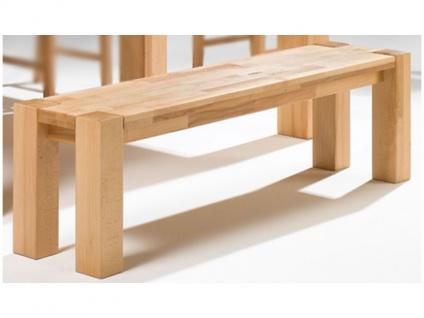 Elfo-Möbel Bank Art.Nr. 6654 in Kernbuche massiv geölt Sitzbank stabverleimt ohne Lehne für Speisezimmer oder Wohnzimmer