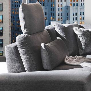 K+W Polstermöbel Wohnlandschaft Melody 7266 in U-Form inklusive Sitztiefenverstellung und zwei Kopfstützen mit einem verchromten Blitzfuß - Vorschau 4