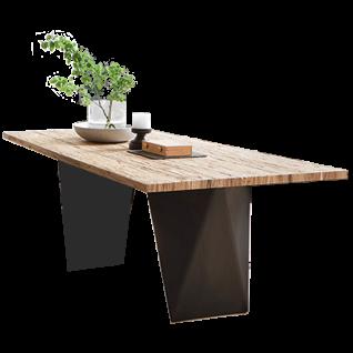 S-KULTUR by Wöstmann Natural Arts Tischsystem mit Gestell Variante D Esstisch mit fester Platte für Ihr neues Esstimmer Breite Länge und Tischplattenausführung wählbar