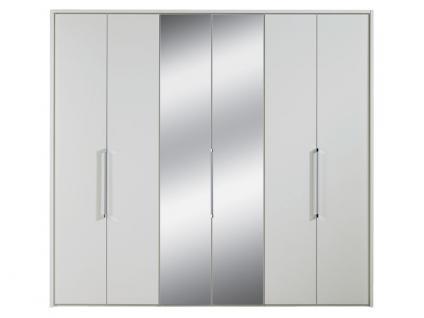 Nolte Horizont 7000 Falttüren-Kleiderschrank 6-türig in Polarweiß mit 2 Spiegeltüren