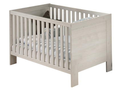 Paidi Laslo Kinderbett Liegefläche ca. 70x140 cm mit Airwell Comfort Lattenrost und 2 Schlupfsprossen in Nordic-Wood-Nachbildung