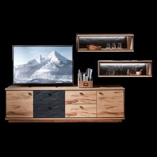 Schröder Kitzalm-Alpenglück Wohnkombination K003 mit Korpus und Front in Salzkammergut Alteiche natur gebürstet ideal für Ihr Wohnzimmer