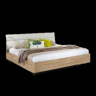 Rauch Packs Kelheim Bett mit Polsterkopfteil in Kunstleder Liegefläche und Farbausführung wählbar optional mit Nachttisch