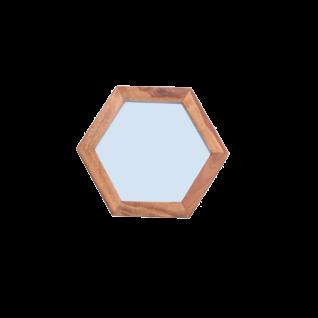 Sit Möbel PANAMA Spiegel in Wabenform aus Shesham Holz mit Spiegelglas