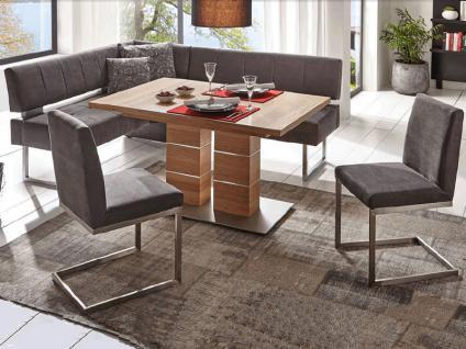 K+W Möbel Bahia 4149 Eckbankgruppe silaxx mit Stauraum Anbauecke und Bankelement für Esszimmer Bank Silaxx Bezug Stoff oder Leder wählbar