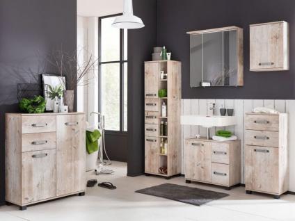 W. Schildmeyer Möbel Milan Badmöbel Set 6-tlg. für Badezimmer mit Spiegelschrank 2 Highboards Waschbeckenunterschrank Hochschrank und Oberschrank