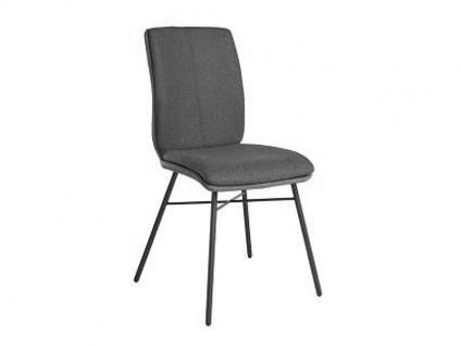 Bert Plantagie Stuhl Tara Four Komfort 812C mit Uni-Mattenpolsterung Polsterstuhl für Esszimmer Esszimmerstuhl mit Vierfußgestell Gestellausführung und Bezug in Leder oder Stoff wählbar